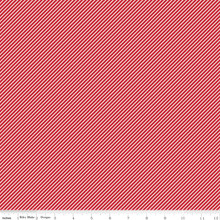WISTFUL STRIPE RED 1/2 Metre Length