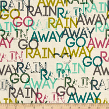 1931 Rain Go Away Sun Shower - Raindrop Collection by Rashida Coleman Hale 1/2 Meter length