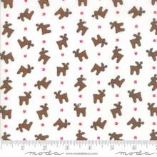 Sugar Plum Christmas White 2912-12 by Bunny Hill 1/2 Meter length