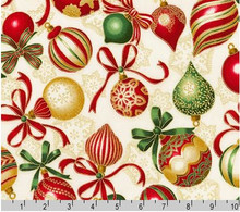 Baubles - Holiday Flourish Robert Kaufman per 1/2 metre length