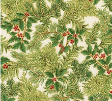Green Holly Sprig -Holiday Flourish  per 1/2 metre length
