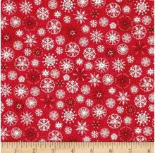 Scandi Christmas snow flake  per half metre length