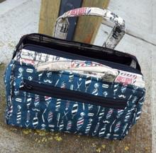 Barber shop bathroom bag version  with nylon lining