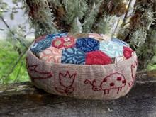 Tulip Pincushion - William Morris fabric