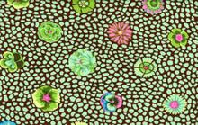 KF Classics - Guinea Flower - Green  1/2 Metre Length