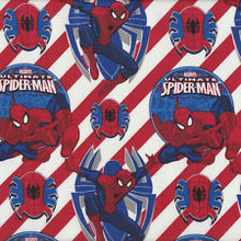 Spiderman Red and White Stripe 1/2 Metre Length