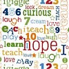 Riley Blake - Jigsaw Words 1/2 Metre Length
