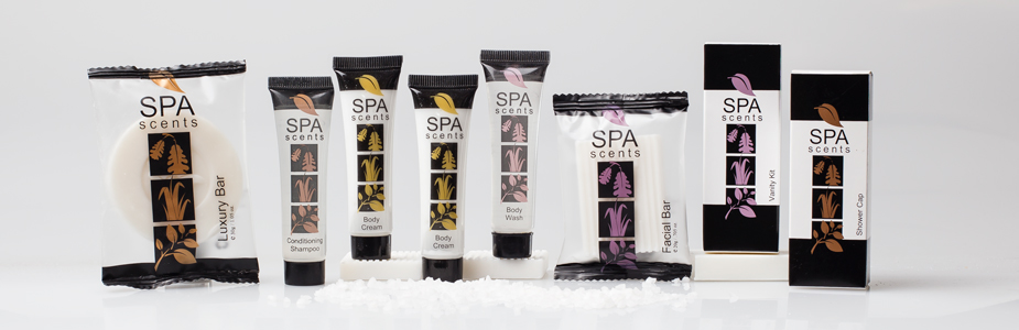 spa scents luxury guest toiletries