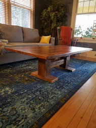 Reclaimed Barn Beam Trestle Coffee Table
