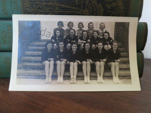 Vintage 1930s Women's Sports Team Original Photo, NJ, Atheletes