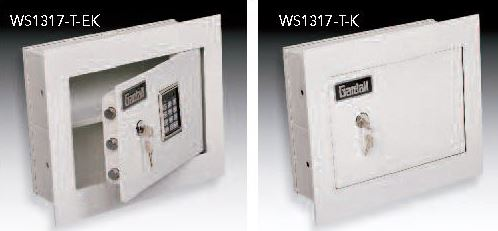 wall safes have a 1u201d flange for easier designed to be recessed into a wall and concealed by a picture or a mirror available with either a key - Wall Safes
