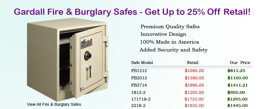 Gardall Fire And Burglary Safes 25 Off Retail