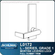 Schlage L0172 - GRADE 1 MORTISE LEVERED LOCK - Double Dummy - Escutcheon Trim - Standard Collection Levers