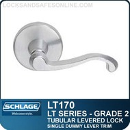 Schlage LT170 - Grade 2 Tubular Levered Lock - Single Dummy Lever