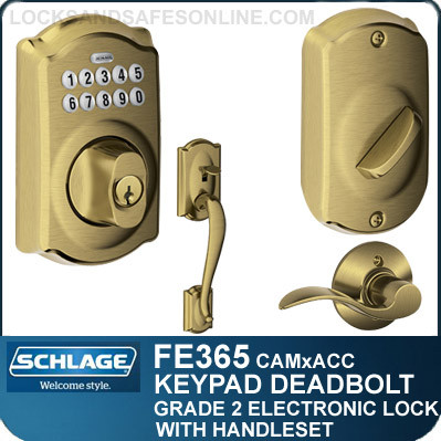 Schlage Fe365 Cam Acc Camelot Style Keypad Deadbolt