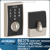 Schlage BE375-CEN - Century Style Schlage Touch Keypad Electronic Deadbolt