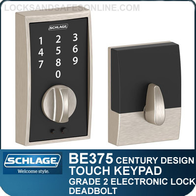 schlage be375 cen century style schlage touch keypad. Black Bedroom Furniture Sets. Home Design Ideas
