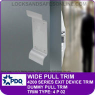 PDQ PLATE/PULL TRIM - Dummy Pull Trim - (For PDQ 4200 Series Exit Devices)