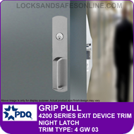 PDQ GRIP PULL TRIM - Night Latch - (For PDQ 4200 Series Exit Devices)