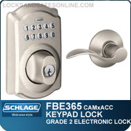 Schlage FBE365-CAM-ACC - Camelot Style Keypad Deadbolt and Accent Lever