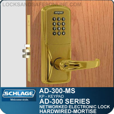 keupad electronic mortise locks schlage ad 300 ms kp. Black Bedroom Furniture Sets. Home Design Ideas