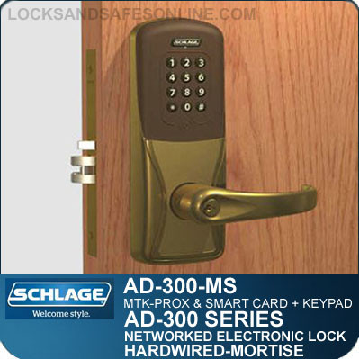 multi technology mortise locks schlage ad 300 ms mtk. Black Bedroom Furniture Sets. Home Design Ideas