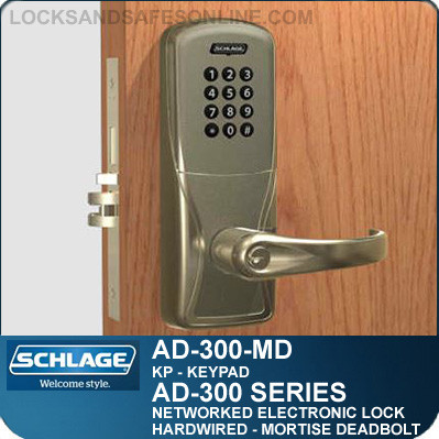 networked electronic mortise locks schlage ad 300 md kp. Black Bedroom Furniture Sets. Home Design Ideas
