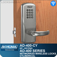 Schlage AD-400-CY - Networked Wireless Cylindrical Locks - Keypad