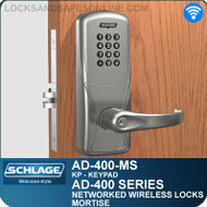 Schlage AD-400-MS - Networked Wireless Mortise Locks - Keypad