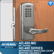 Schlage AD-400-MD - Networked Wireless Mortise Deadbolt Locks - Keypad