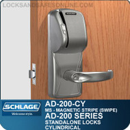 Schlage AD-200-CY - Standalone Cylindrical Locks - Magnetic Stripe (Swipe)