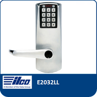 The E-Plex E2032LL provides exterior access by combination, while allowing free egress. This electronic pushbutton lock eliminates problems and costs associated with issuing, controlling, and collecting keys and cards, has up to 100 access codes and is programmed via the keypad or with optional Microsoft Excel-based software.