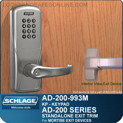 Standalone Exit Trims Schlage Ad 200 993m Kp