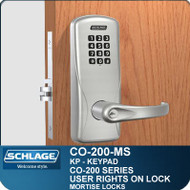 Standalone Electronic Keypad Locks | Schlage CO-200-Mortise