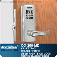 Standalone Electronic Keypad Locks | Schlage CO-200-Mortise Deadbolt