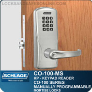 Electronic Mortise Lock with Keypad Reader | Schlage CO-100-MS | Manually Programmable