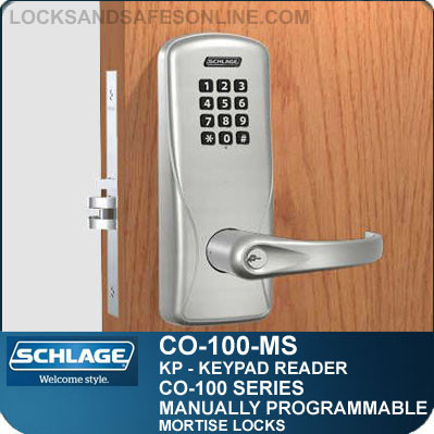 mortise locks with keypad reader schlage co 100 ms kp. Black Bedroom Furniture Sets. Home Design Ideas