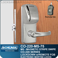 Mortise Magnetic Stripe Swipe Locks | Schlage CO-220-MS-75-MS | Classroom Lockdown Solution