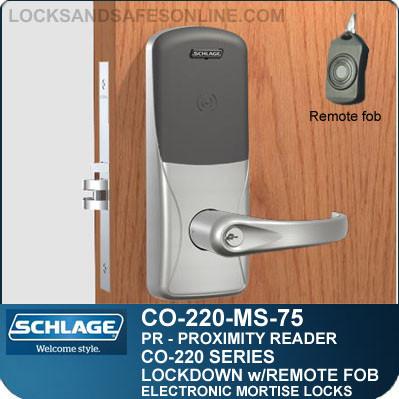 Mortise Proximity Locks | Schlage CO-220-MS-75-PR | Classroom Lockdown Solution