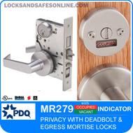 Egress Indicator Mortise Locks - Privacy   PDQ MR279