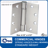 "PDQ Commercial Hinges | K5107-1F - Spring Hinges (4-1/2""x4-1/2"")"