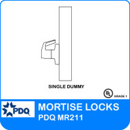 Single Dummy Mortise Locks Non-Cylinder | PDQ MR211 | F Sectional Trim