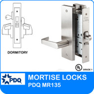 Grade 1 Single Cylinder Dormitory Mortise Locks | PDQ MR135 | F Series Escutcheon Trim