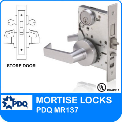 Double Cylinder Mortise Store Door Locks Pdq Mr137 Js