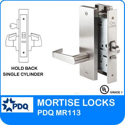 Hold Back Single Cylinder Locks Mortise Pdq Mr113 Jw