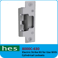 HES 8000C-630 - Electric Strike Kit for use with Cylindrical Locksets