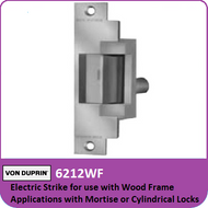Von Duprin 6212WF - Electric Strike for use with Wood Frame Applications with Mortise or Cylindrical Locks
