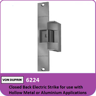 Von Duprin 6224 - Closed Back Electric Strike for use with Hollow Metal or Aluminum Applications with Mortise or Cylindrical Locks