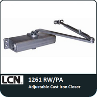 LCN 1261 Rw/PA - Adjustable Cast Iron Closer