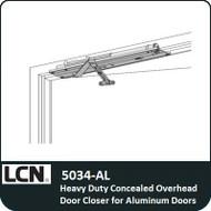 LCN 5034-AL - Heavy Duty Concealed Overhead Door Closer for Aluminum Doors